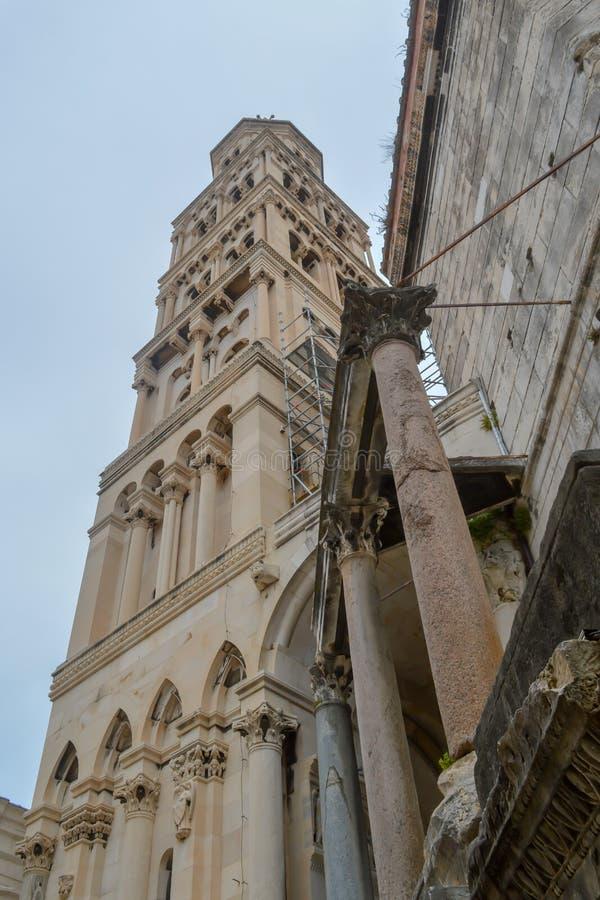 Saint Roch Roka Church in Split. SPLIT, CROATIA - JUNE 15: Saint Roch Roka Church near Diocletian`s palace in Split on June 15, 2019 stock photos