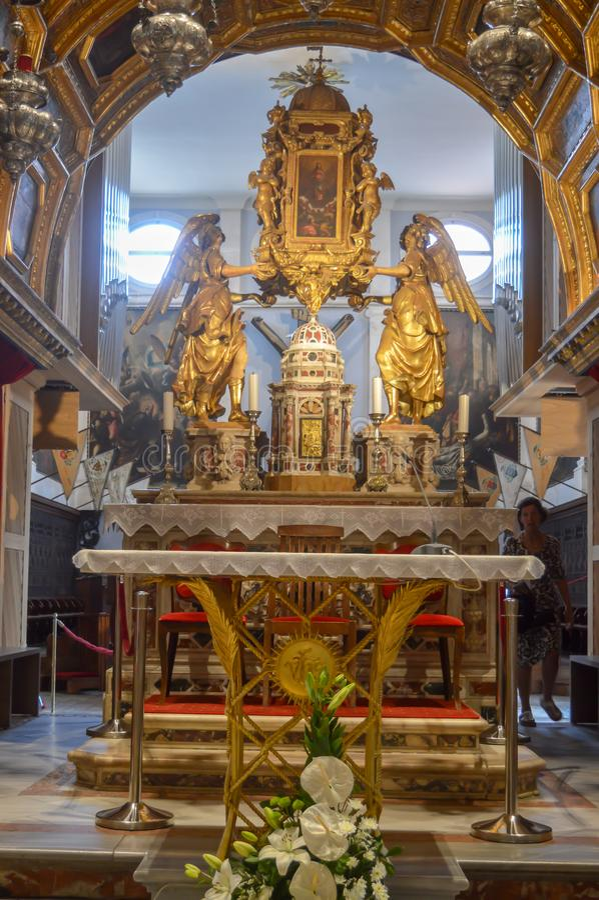 Saint Roch Roka Church in Split. SPLIT, CROATIA - JUNE 15: Saint Roch Roka Church near Diocletian`s palace in Split on June 15, 2019 stock image