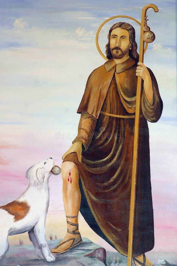 Saint Roch royalty free illustration