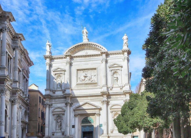 Saint Roch. Scuola Grande di San Rocco. Venice Italy stock images