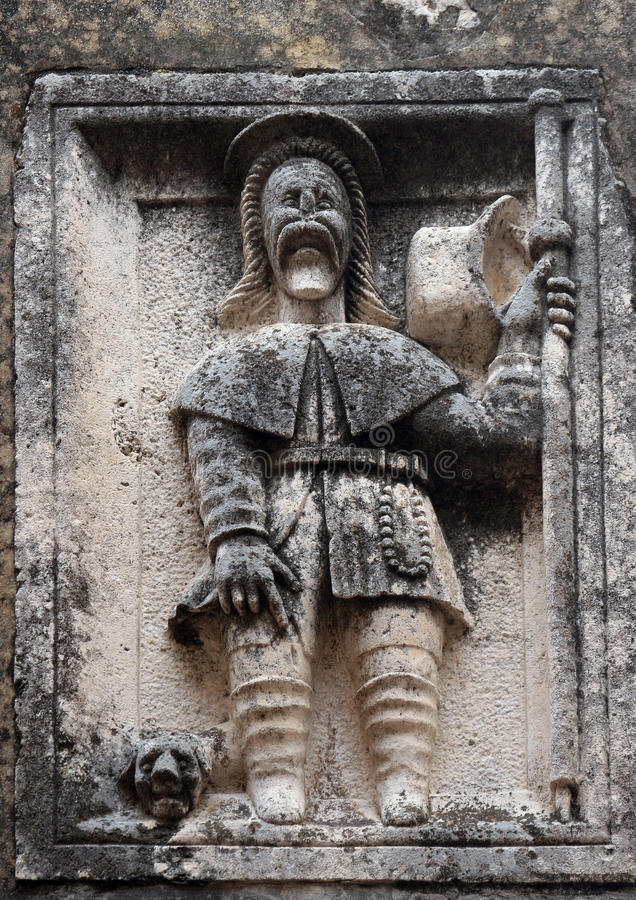 Saint Roch. Statue on church stock photography