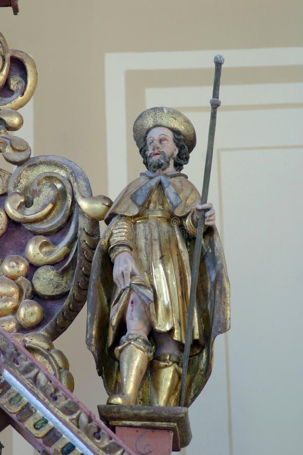 Saint Roch. Statue on church altar royalty free stock photos
