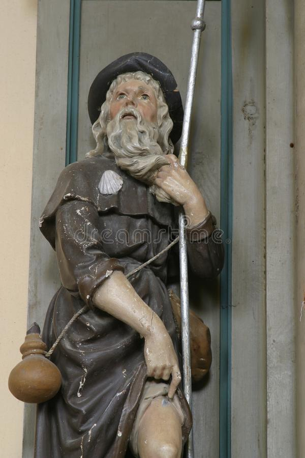 Saint Roch. Statue on church altar royalty free stock photography