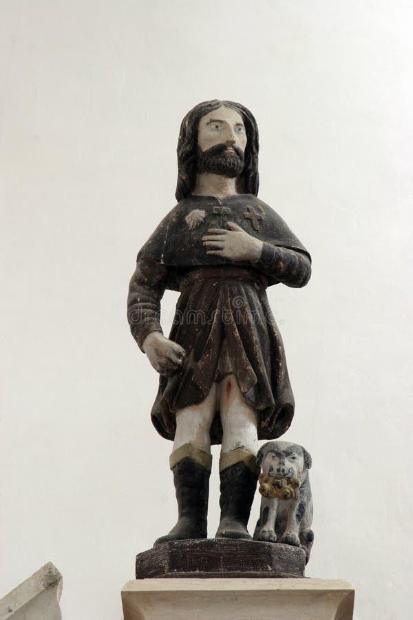 Saint Roch. Statue on church altar stock image