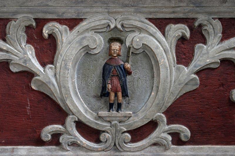 Saint Roch. Statue on church altar stock photography