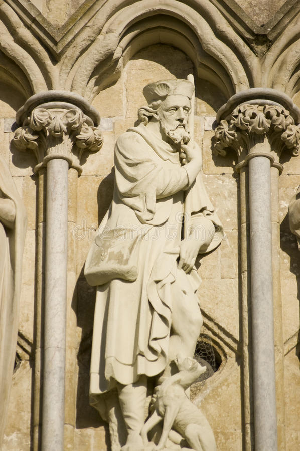 Download Saint Roch Statue, Salisbury Cathedral Stock Image - Image: 27245761