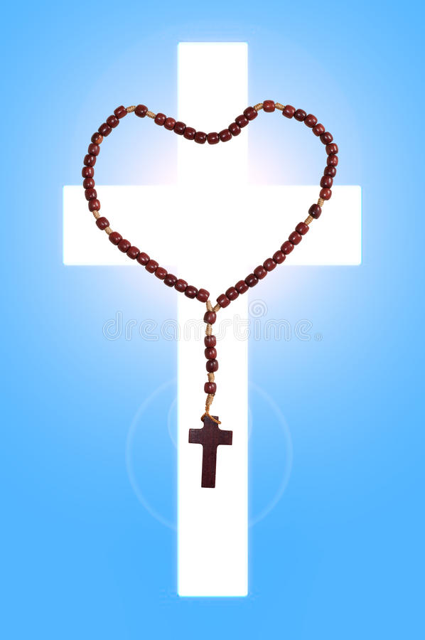 Saint Rosary. The rosary is a Roman Catholic sacramental and Marian devotion to prayer and the commemoration of Jesus and events of his life stock photo