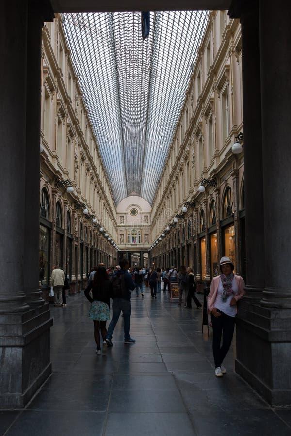 Saint royal Hubert Galleries, Bruxelles, Belgique photo stock