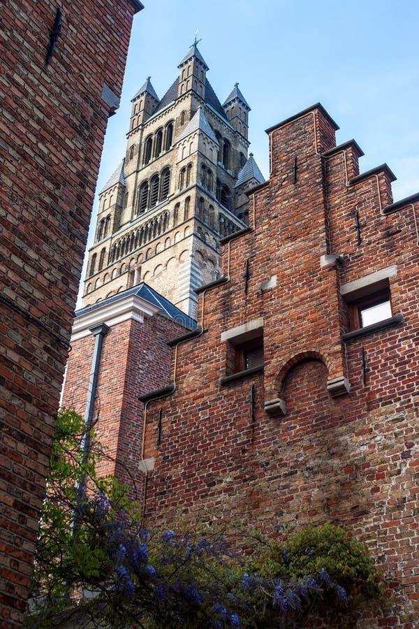 Saint Salvator Cathedral à Bruges photographie stock