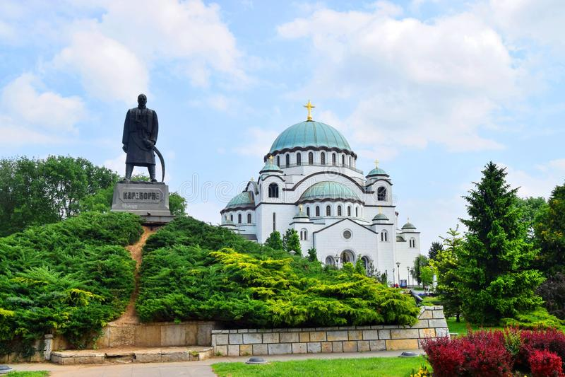 The Saint Sava Cathedral Belgrade Serbia royalty free stock photography