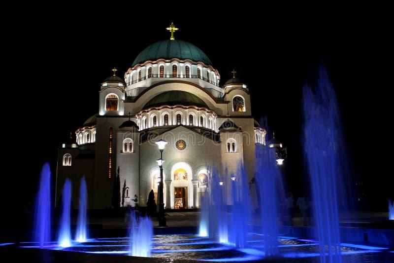 Saint Sava Church in Belgrade stock images