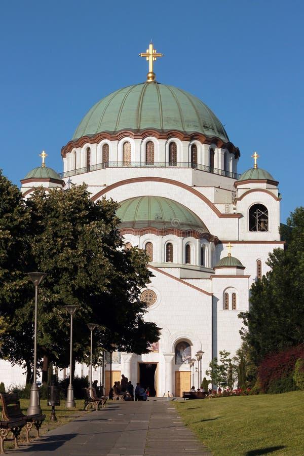 Saint Sava Church in Belgrade royalty free stock photo
