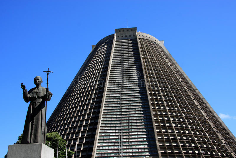 Saint Sebastian Cathedral, Rio, Brazil stock photos