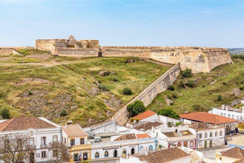 Saint Sebastian Fortress, Castro Marim, Portugal. The Fort of Saint Sebastian - Forte de Sao Sebastiao that overlooks the town of Castro Marim in the Algarve royalty free stock image