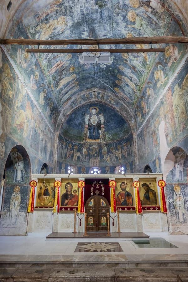 Saint Sophia ancient orthodox church in Ohrid, Macedonia royalty free stock image