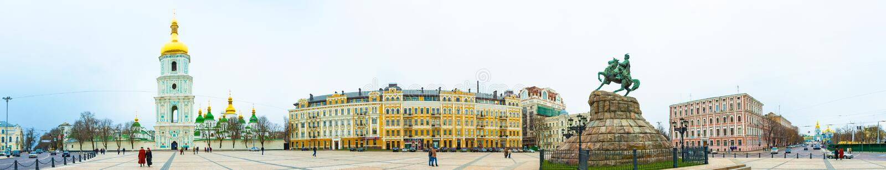 Saint Sophia Church em Kiev foto de stock royalty free