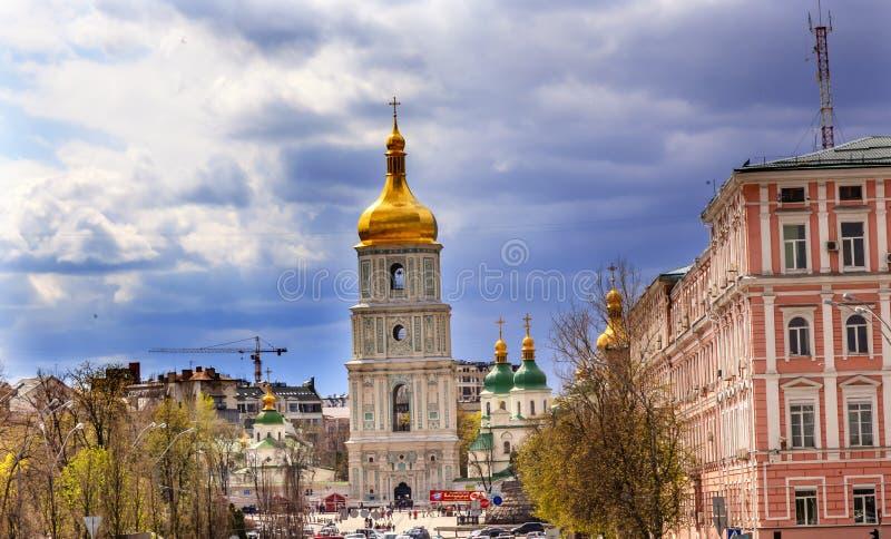 Saint Sophia Sofia Cathedral Sofiyskaya Square Kiev Ukraine stock photo