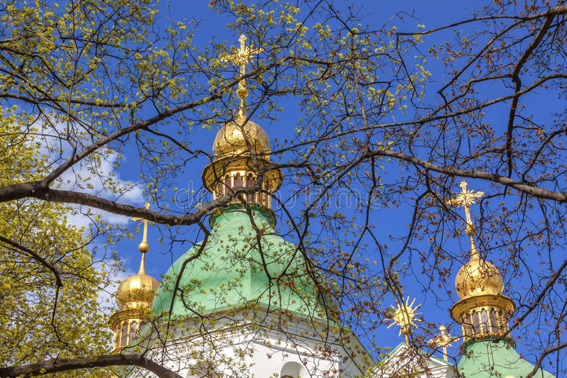 Saint Sophia Sofia Cathedral Spires Kiev Ukraine royalty free stock image