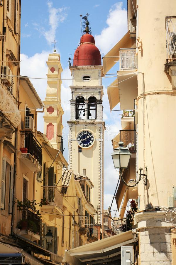 Saint Spiridion church, Corfu Town, Greece stock image