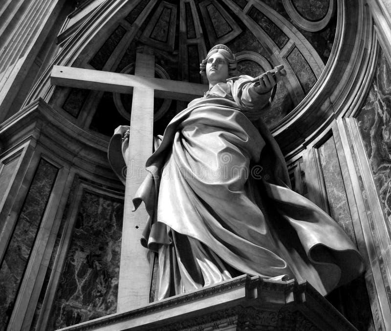 Saint statue stock photo