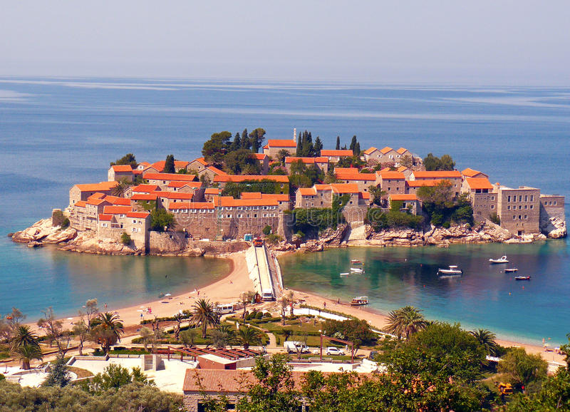 Saint Stefan island, Montenegro stock photography