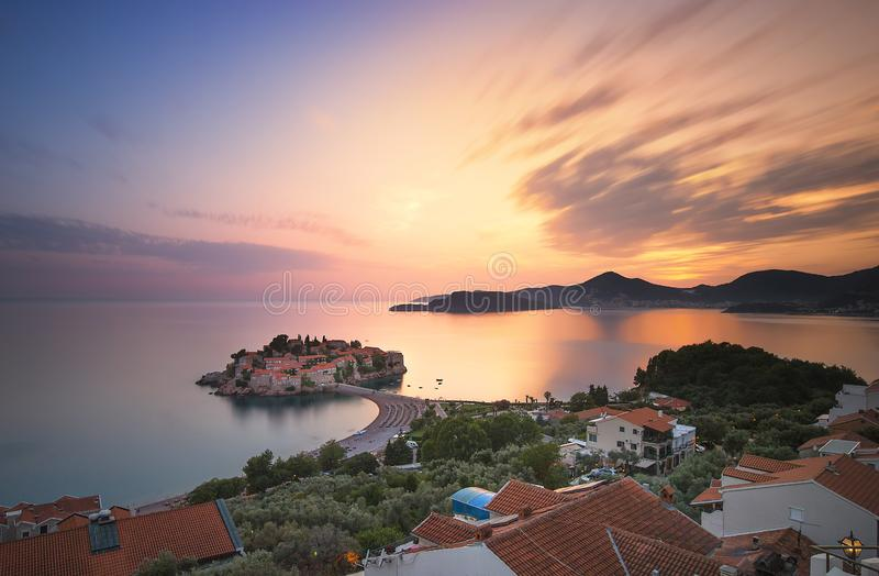 Saint Stefan island, Montenegro. royalty free stock photography