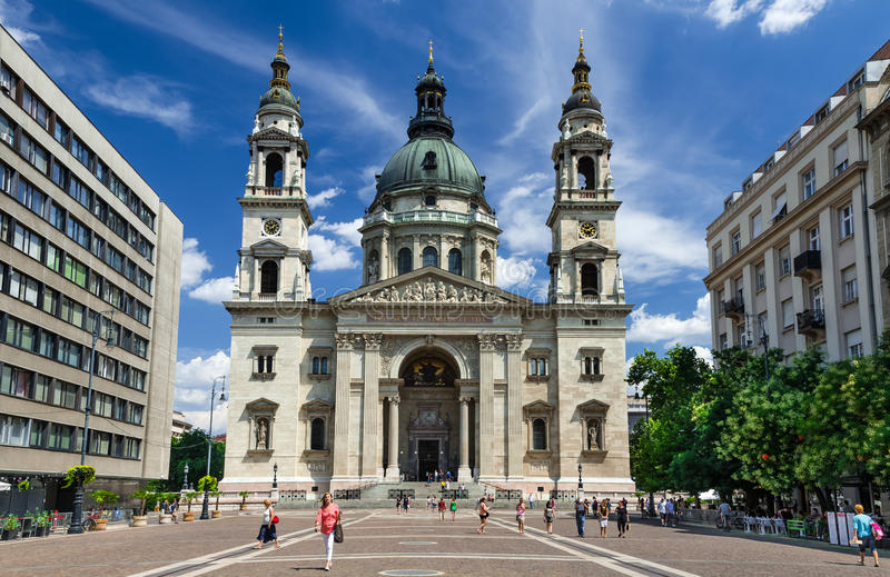 Saint Stephen Basilica in Budapest, Hungary royalty free stock photos