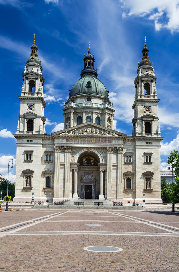 Saint Stephen Basilica in Budapest, Hungary royalty free stock photo