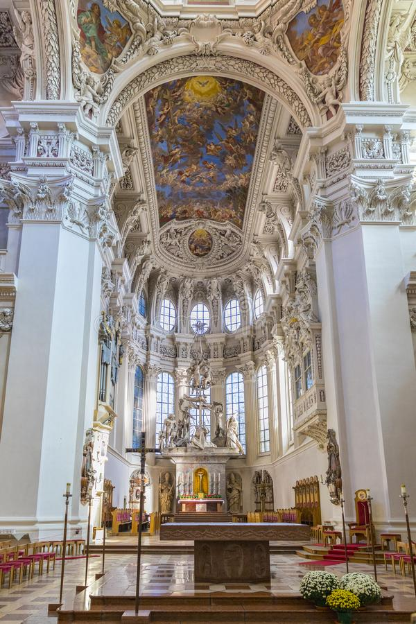 Saint Stephen Cathedral in Passau. stock image