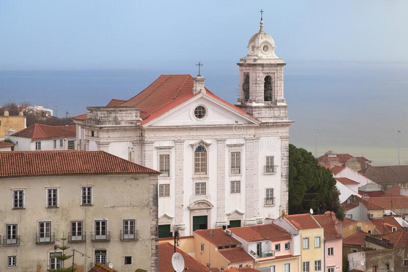 Saint Stephen Church in Lisbon stock photography