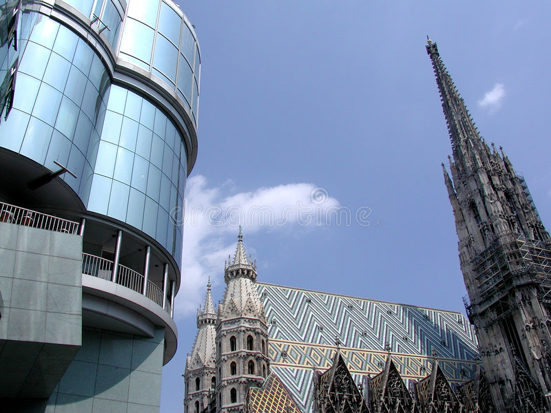 Saint Stephen Dome - Wien stock photography