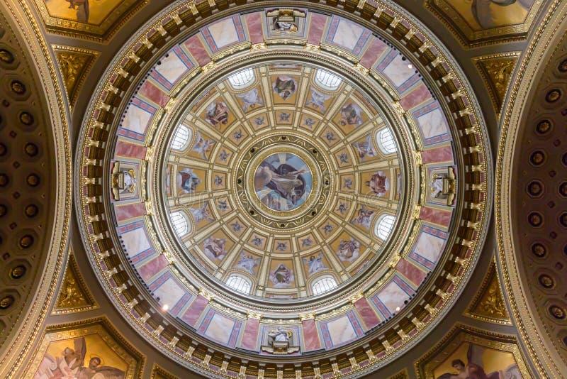 Saint Stephen's Basilica roof art dome stock photos