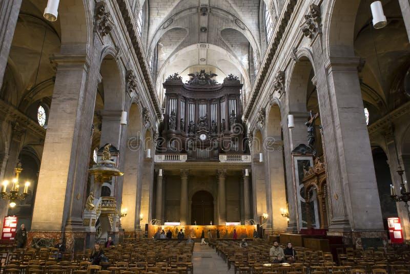 Saint Sulpice, Paris, France d'Eglise images libres de droits