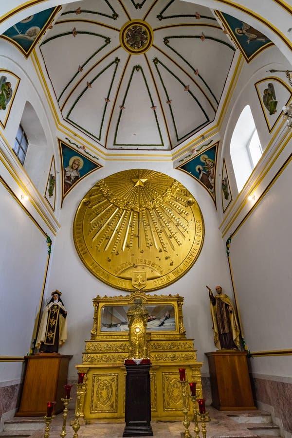 Saint Teresita Chapel Temple Convent Carmen Alto Church Oaxaca Mexico da abóbada do altar fotos de stock