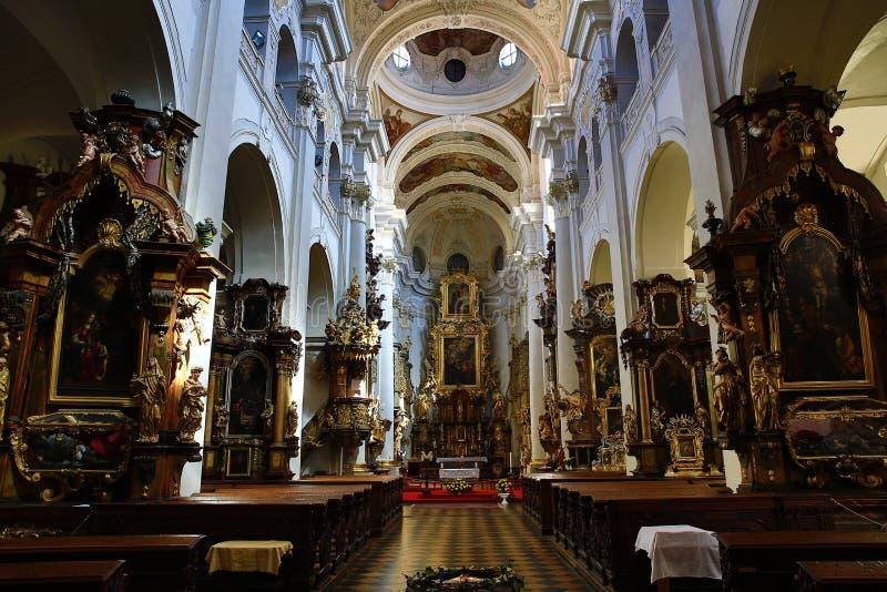 Saint Thomas Church (Checo: O ¡ do ¡ Å de Tomà do svatého de Kostel e) é uma igreja Augustinian no ¡ Strana de MalÃ, Praga, Repú fotos de stock