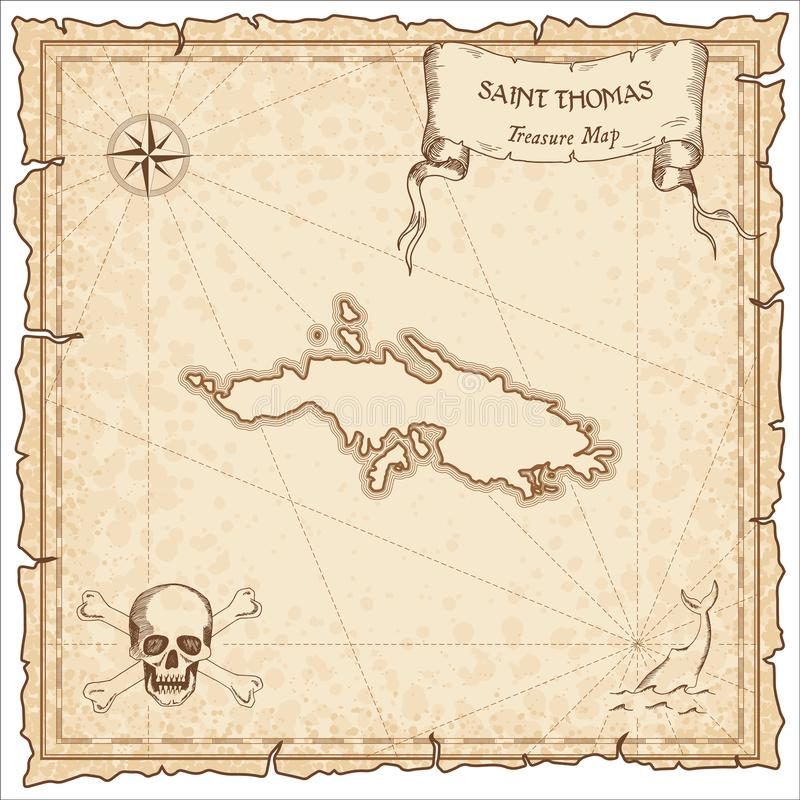 download saint thomas old pirate map stock vector illustration of chart party