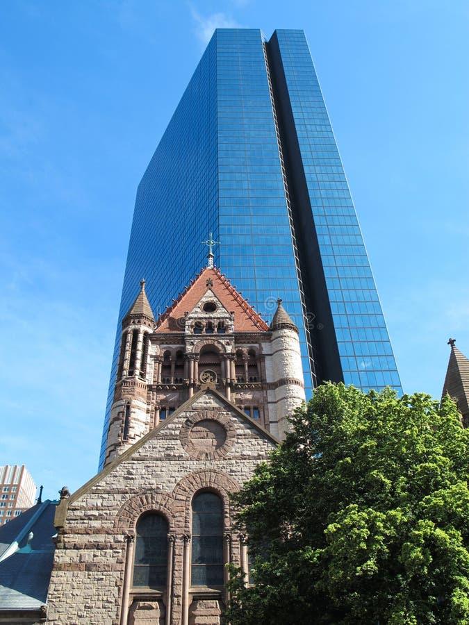 Free Saint Trinity Church And John Hancock Tower In Boston, MA Stock Photography - 64929822