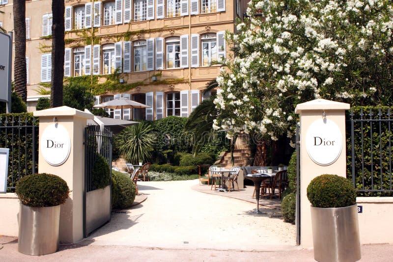 Saint-Tropez Dior Cafe French Riviera royalty free stock photos