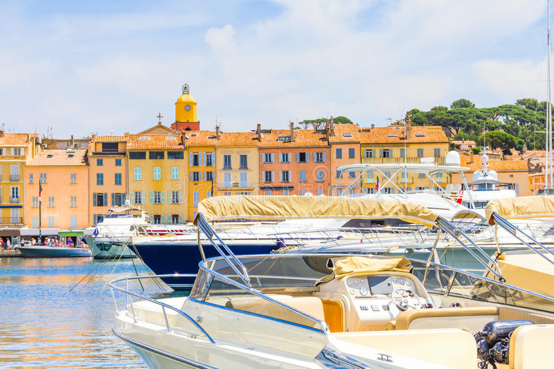 Saint Tropez Frankrike arkivbild