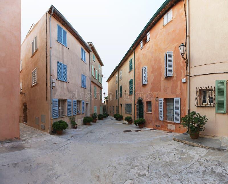 Saint Tropez fyrkant arkivfoton