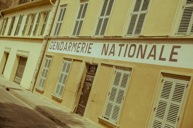 Saint Tropez gendarmerie, France royalty free stock images
