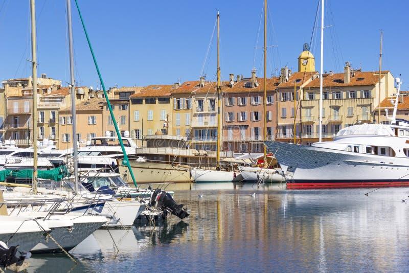 Saint Tropez hamn royaltyfria bilder