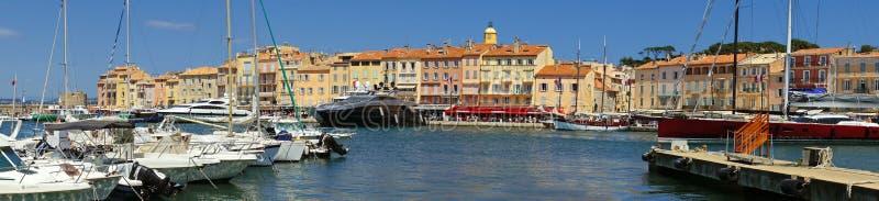 Saint Tropez panoramautsikt arkivbilder