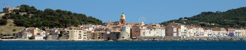 Saint Tropez panoramautsikt fotografering för bildbyråer