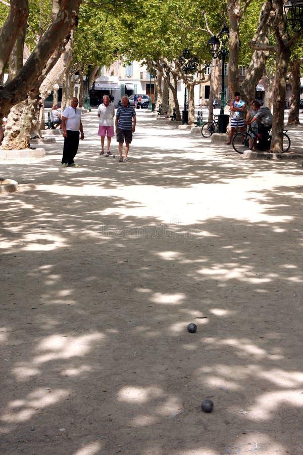 Saint Tropez Place des Lys French Riviera royalty-vrije stock afbeelding