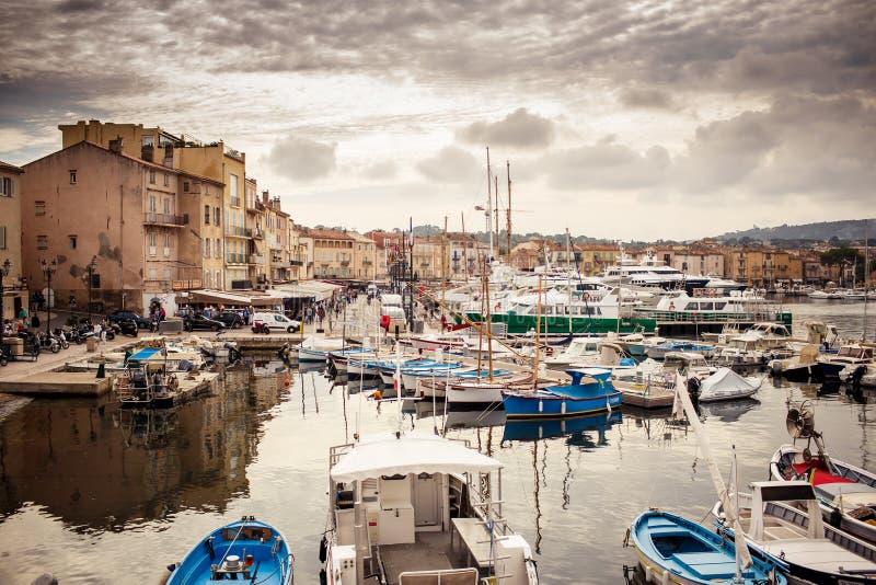 Saint Tropez port, Frankrike royaltyfri foto