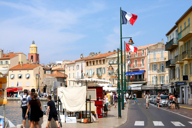 Saint-Tropez Port French Riviera royalty free stock images