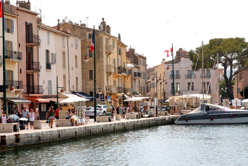 Saint-Tropez Port French Riviera stock photo