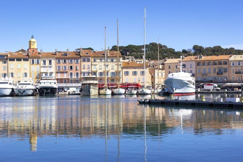 Saint Tropez, porto fotografia stock libera da diritti