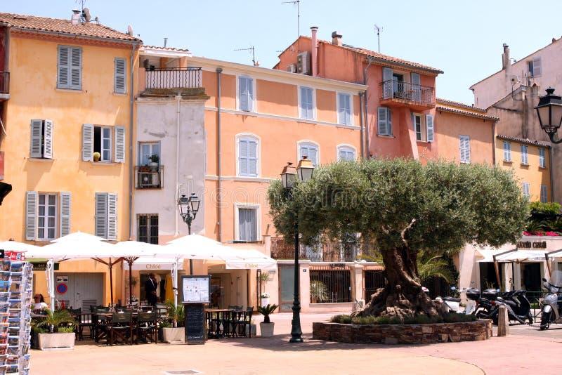 Saint-Tropez street French Riviera royalty free stock photography